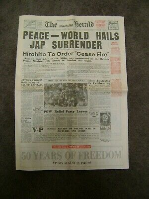 THE HERALD Victory edition 50 Years since End of WW2 VP Day Souvenir Newspaper
