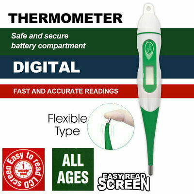 Flexible Type LCD Digital Body Thermometer Adult Child Baby Temperature AU STOCK