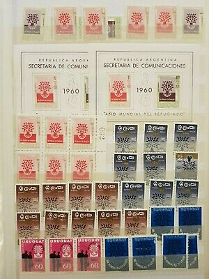 Teamatic Refugees Worldwide Dealer Stock Stamps Collection  M/S Mnh Lot#6
