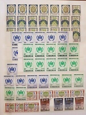 Teamatic Refugees Worldwide Dealer Stock Stamps Collection  M/S Mnh Lot#2