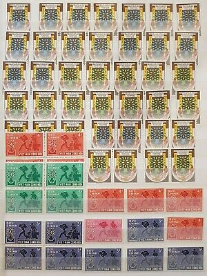 Teamatic Refugees Worldwide Dealer Stock Stamps Collection  M/S Mnh Lot#1