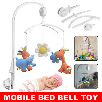 Baby Mobile Crib Cot Musical DIY Wind up Music Box Bed Hanging Bell Toy Nursery