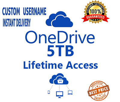 OneDrive 5TB Lifetime Account - CUSTOM USERNAME - Best Price - Instant Delivery