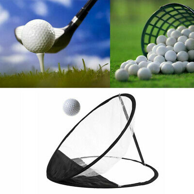 Portable Pop-up Golf Chipping Pitching Practice Training Net Aid Tool Bag Net U