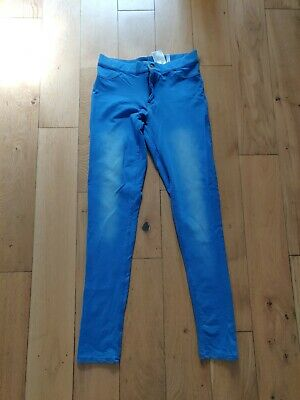 H&M Bright Blue Jeggings Trousers Age  13-14 Years