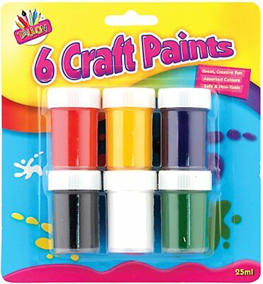 Children's Fluorescent Poster Paints Craft Set Of 7 Easy Use Paints