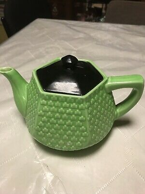 Teapot Beautiful Design Green Vintage Collectable Made In Japan