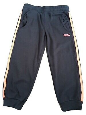 Lonsdale Girls 3/4 Tracksuit Bottoms Size 7-8 Years Height 122-128 Cm