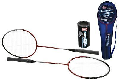 New M.y 2 Player Pro Badminton Set Rackets & Shuttlecock In Carry Bag