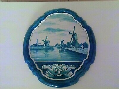 A Large late 18th early 19th Century Delft Wall Plaque