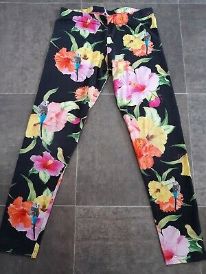 Ted Baker Girls Flower Leggings Size 9-10 Years