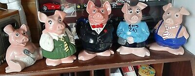 Wade Full Set Natwest Pigs Excellent Condition Perfect No Chips Or Cracks