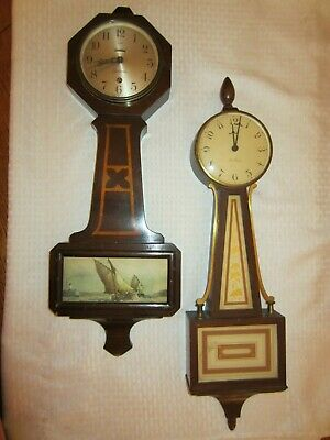 Pair of Vintage Banjo Clocks Cape Cod / Sessions & Seth Thomas Exc. Cond.!