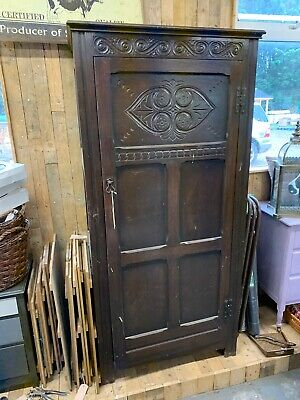 antique hall cupboard