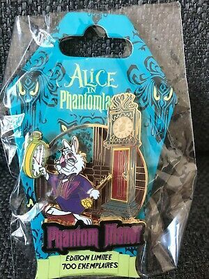 PIN White Rabbit Lapin Manor AUTHENTIC Alice Phantomland event Disneyland Paris