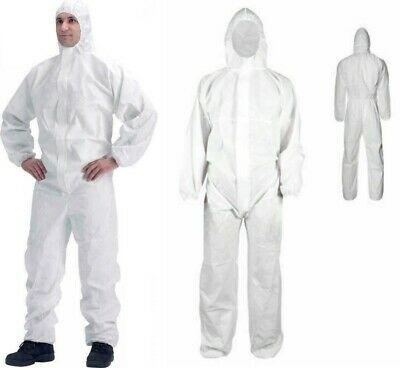Harris disposable Coveralls White Hood Boiler Suit Painters Protective Overalls