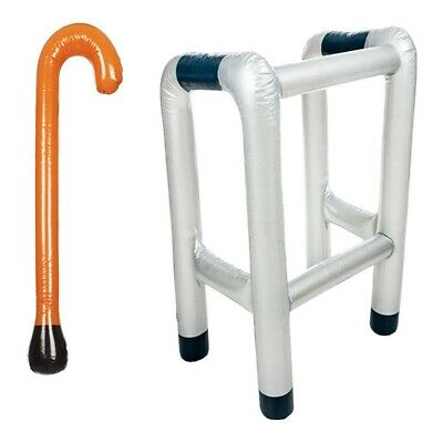 Granny Blow-Up Inflatable Zimmer Frame Fancy Dress Prop WORLD BOOK DAY