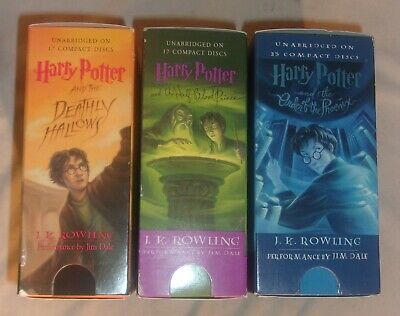 Lot Of 3 Harry Potter Audio Books On Cd Box Sets Order Of The Phoenix, Deathly