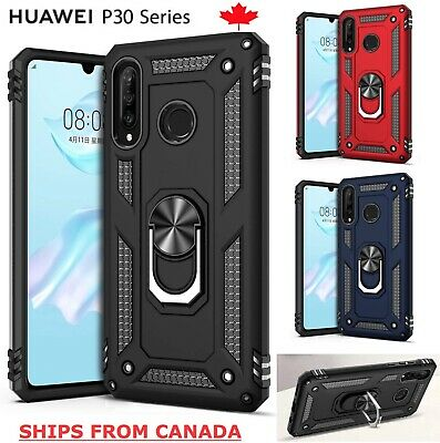 For Huawei P30 / Lite Pro Shockproof Case 360 Magnetic Ring Armour Cover