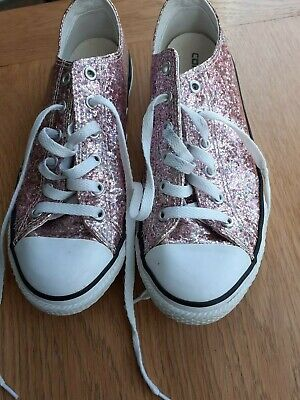 Ladies/Girls,All Star Converse,Pink Glittery Trainers,Size 4