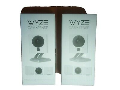 2 (Two) Wyze Cam V2 1080P Indoor Smart Home Camera with Wyze Sense Starter Kit