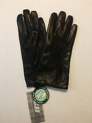 NWT GH Women's Whipstitched Points Touchscreen Leather Gloves