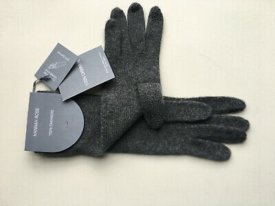 100% Cashmere Hannah Rose Smart Phone Texting Gloves One Size