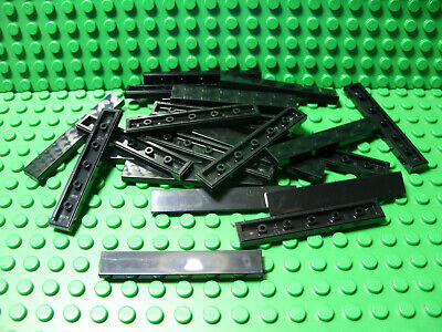 50 LEGO 1x4 black picked from this lot Finishing Tiles Plates excellent cond.