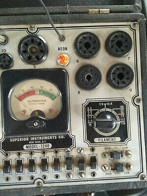 Superior Instruments Co. Model- 1240- Vintage Tube Tester- Used and Powers ON