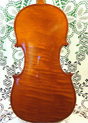 Gorgeous Old Antique Guarnerius Violin Beautiful 1 Piece Back German Made NR!!