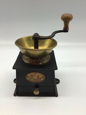 A Kenrick & Sons Coffee Mill Patent Coffee Grinder antique cast iron brass early