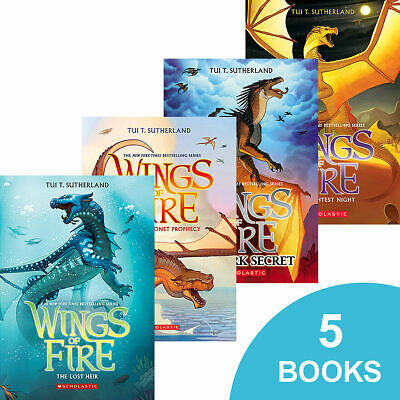 NEW PAPERBACK Wings of Fire 5 Book Set by Tui T. Sutherland -- BOOKS 1-5