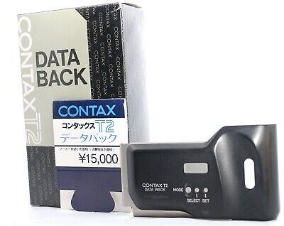 【NEAR MINT】 Contax Data Back for T2 from Japan in BOX w/ Price Card #P22