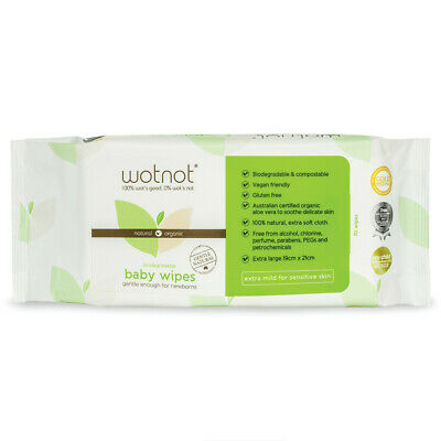 WOTNOT Biodegradable Baby Wipes 70wipes x 12 (840wipes)