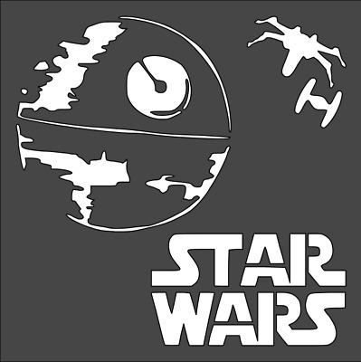 X-Wing Star Wars Stencil Reusable PP Sheet for Arts /& Crafts DIY