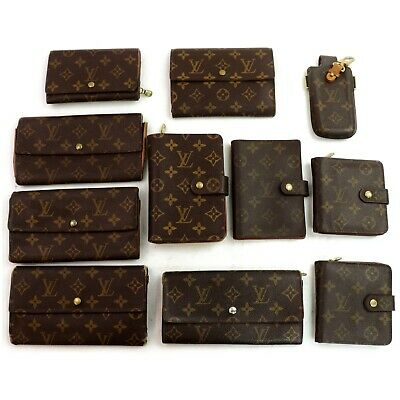 Louis Vuitton Monogram Wallet Cell Phone Holder Diary Cover 11 pieces set 507454