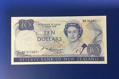 Rare New Zealand Replacement Star $10 Russell Banknote - NB 915461* - UNC