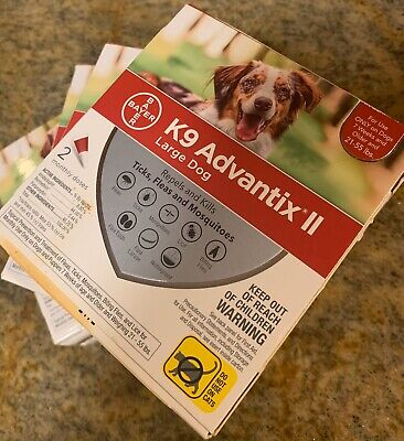 Bayer K9 Advantix II Flea Treatment Large Dog 21-55 lbs 8 Doses 4 2 Pack Doses