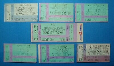 Lot Used *ROCK CONCERT TICKETS *PINK FLOYD King CRIMSON YES Dire STRAITS WHO TFF
