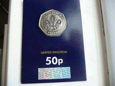 2019 Scouting 50p Fifty Pence Coin Brilliant Uncirculated BUNC BU Sealed New