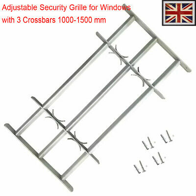 Adjustable Security Grille for Windows with 3 Crossbar 1000-1500mm Safe steel