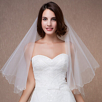 New Wedding Bridal Veil White Ivory