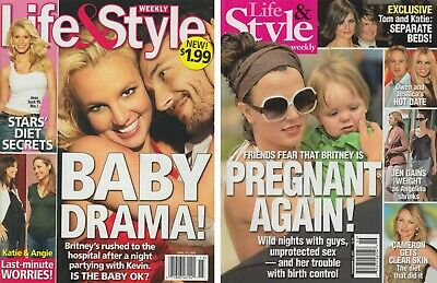 Britney Spears Set Of (5) Lot Magazines Us Weekly Life & Style Weekly VERY RARE