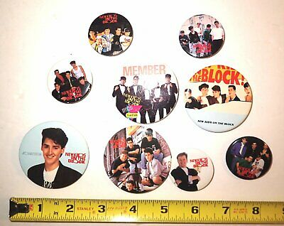 Lot Of 9 Vintage 1989 New Kids On The Block Buttons Pins Pinback NKOTB