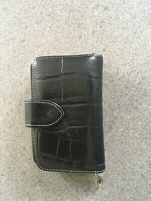 Vintage Mulberry Black Congo Leather Shaped Purse Wallet