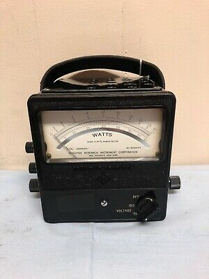 VTG Sensitive Research Instrument Corp. New York Model Portable DC Watts Meter