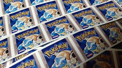 Pokemon Blue Replacement gameboy sticker label PAL uk version glossy durable
