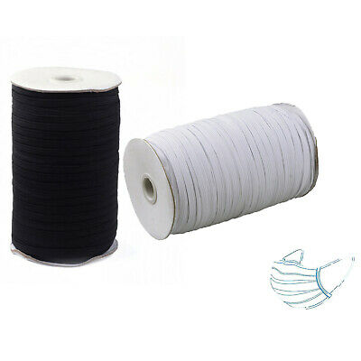 1 Roll Black Elastic Cord Ear Comfort Hanging Tie Rope DIY For Nose Mouth Area