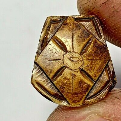 BEAUTIFUL EGYPTIAN AMULET INTAGLIO B0NE PENDANT AMULET 2.1gr 19mm VERY INTEREST