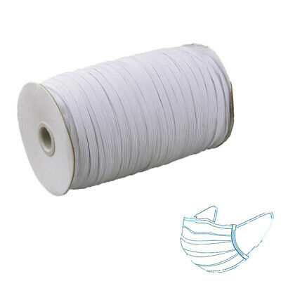 1 Roll White Elastic Cord Ear Comfort Hanging Tie Rope DIY For Nose Mouth Area